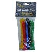 Assortiment gekleurde kabelbinders