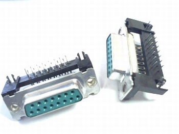 Sub D connector 15 polig female haaks