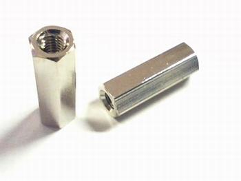 Metalen afstandsbus zeskant 15mm