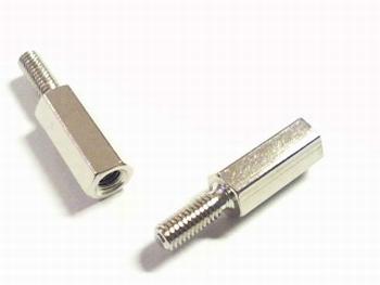 Metalen afstandsbus zeskant 12mm met schroefeind