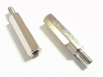 Metalen afstandsbus zeskant 20mm met schroefeind