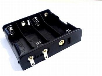 Batterijhouder 4 x AA breed soldeeraansluiting
