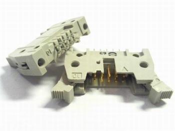 Header male connector 2x5 pins