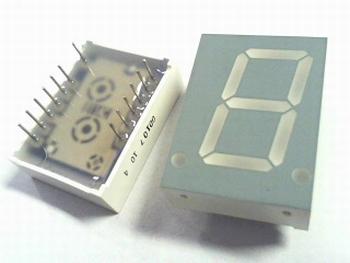 Led display geel 20mm hoog