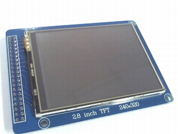 LCD display 320x240 TFT 2.8 inch met touchscreen, sd entry