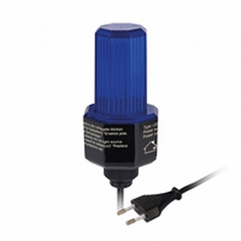 LED Flasher BLAUW met 230 volts stekker.