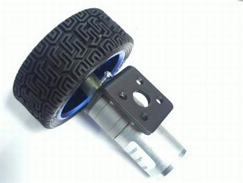 Motor met vertraging 281 rpm 9 volt, wiel  en bracket