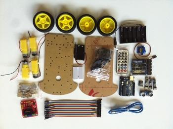 Compleet 4 wheel drive robotplatform met sensoren en meer