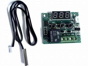 Kleine temperatuur controller W1209 met sensor