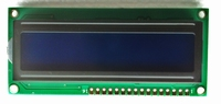 LCD Display 16 X 2 wit op blauw