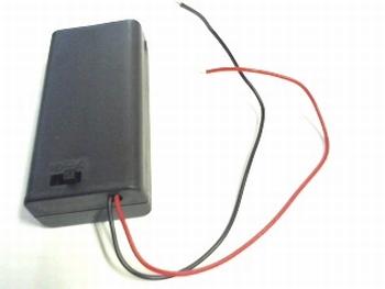 Batterijhouder 2 x AA gesloten