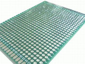 Experimenteerprint 60mm X 80mm met dubbelzijdig eilandraster