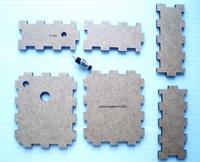 Behuizing voor numitron- klok en dobbelsteen kit