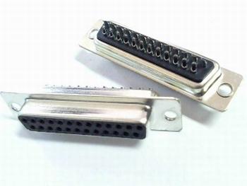 Sub D connector 25 polig female soldeeraansluiting