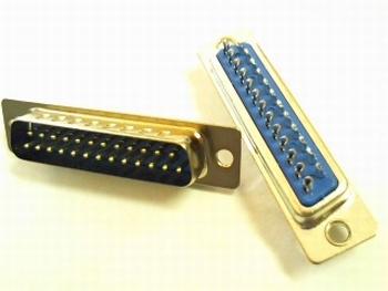 Sub D connector 25 polig male met soldeeraansluitingen