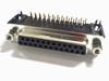 Sub D 25 pins female connector 90 degrees PCB