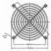 Beschermgrill voor ventilator 80mm