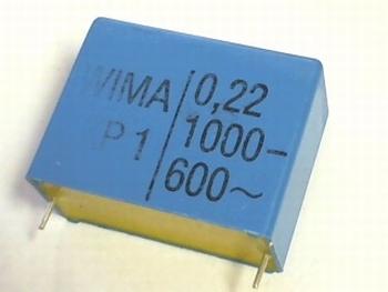 Capacitor 0,22uF 20% 1000V