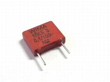 Condensator MKS3 0,1uF / 100nF 20% 100V