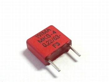 Condensator MKS4 0,22uF  / 220nF 20% 63V