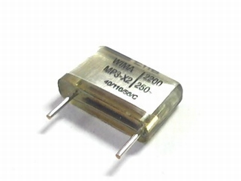 Capacitor MP3X2 2200pF 10% 250V