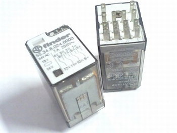 Relais 24VAC 7A FINDER 55.34.8.0240000 vierpolig wissel 4PDT