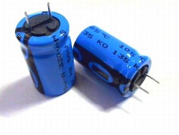 ELCO 330uF - 50 volt 10 stuks!
