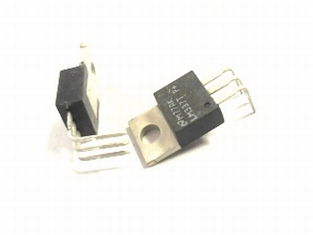 LM337T voltage regulator with 90 degrees legs