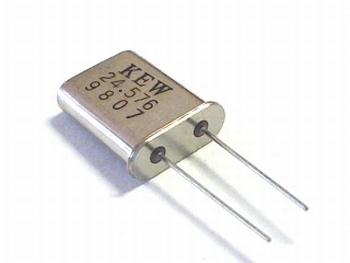 Quartz crystal 24,576 mhz HC18