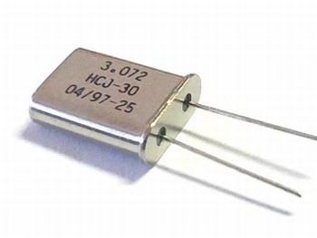 Quartz crystal 3,072 mhz