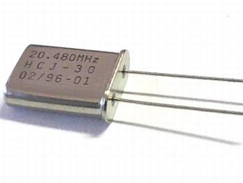 Quartz crystal 20,480 mhz