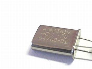Quartz kristal 4,433619 mhz HC18