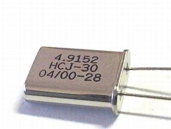 Quartz crystal 4,9152  mhz HC18