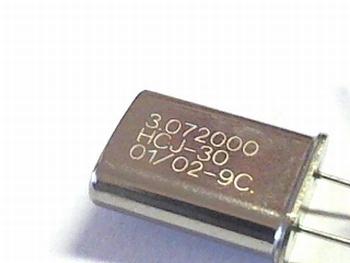 Quartz crystal 3,072000 mhz