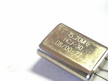 Quartz crystal 15,20 mhz
