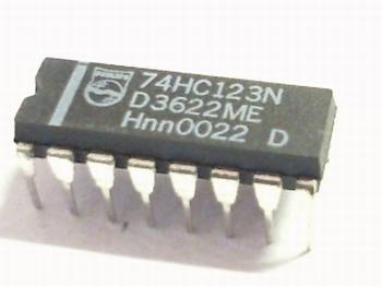 74HC123 Monostable Multivibrator
