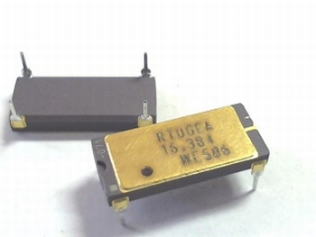 Quartz crystal oscillator 16,384 mhz