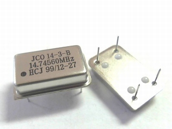 Quartz kristal oscillator 14,74560 mhz