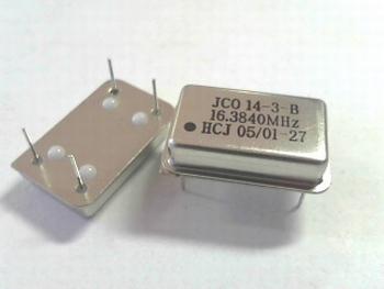 Quartz crystal oscillator 16,3840 mhz