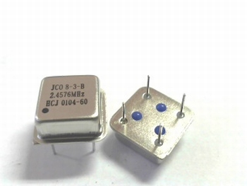 Quartz crystal oscillator 2,4576 mhz square