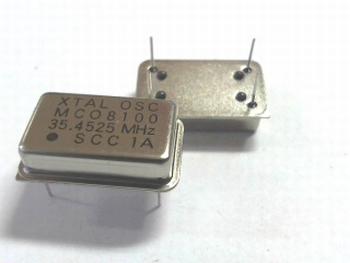 Quartz crystal oscillator 35,4525 mhz