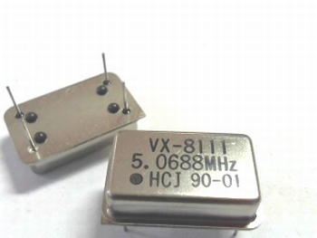 Quartz crystal oscillator 2,4576 mhz