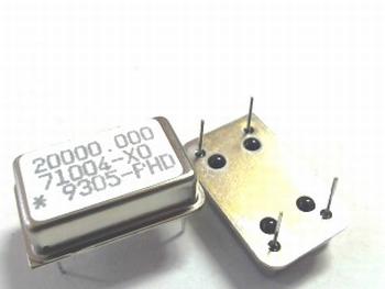 Quartz crystal oscillator 20 mhz