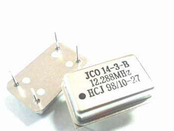 Quartz crystal oscillator 12,288 mhz