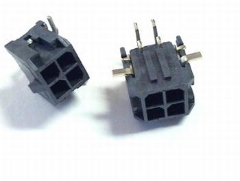 Microfit hooked header 4P Molex SMD