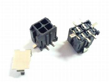Microfit straight header 4P Molex SMD