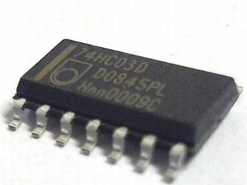 74HC03D QUAD NAND GATE SMD
