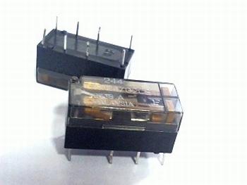 Relais type 244 DO24/02C 5VDC - DPDT