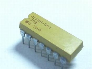 Weerstand array 7 x 10K ohm DIP14