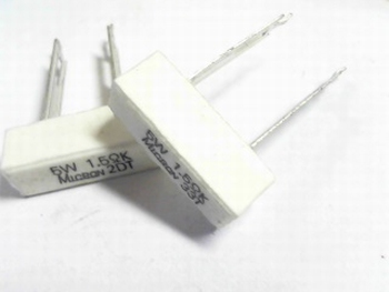 Resistor ceramic 1.5 Ohms 5 Watt
